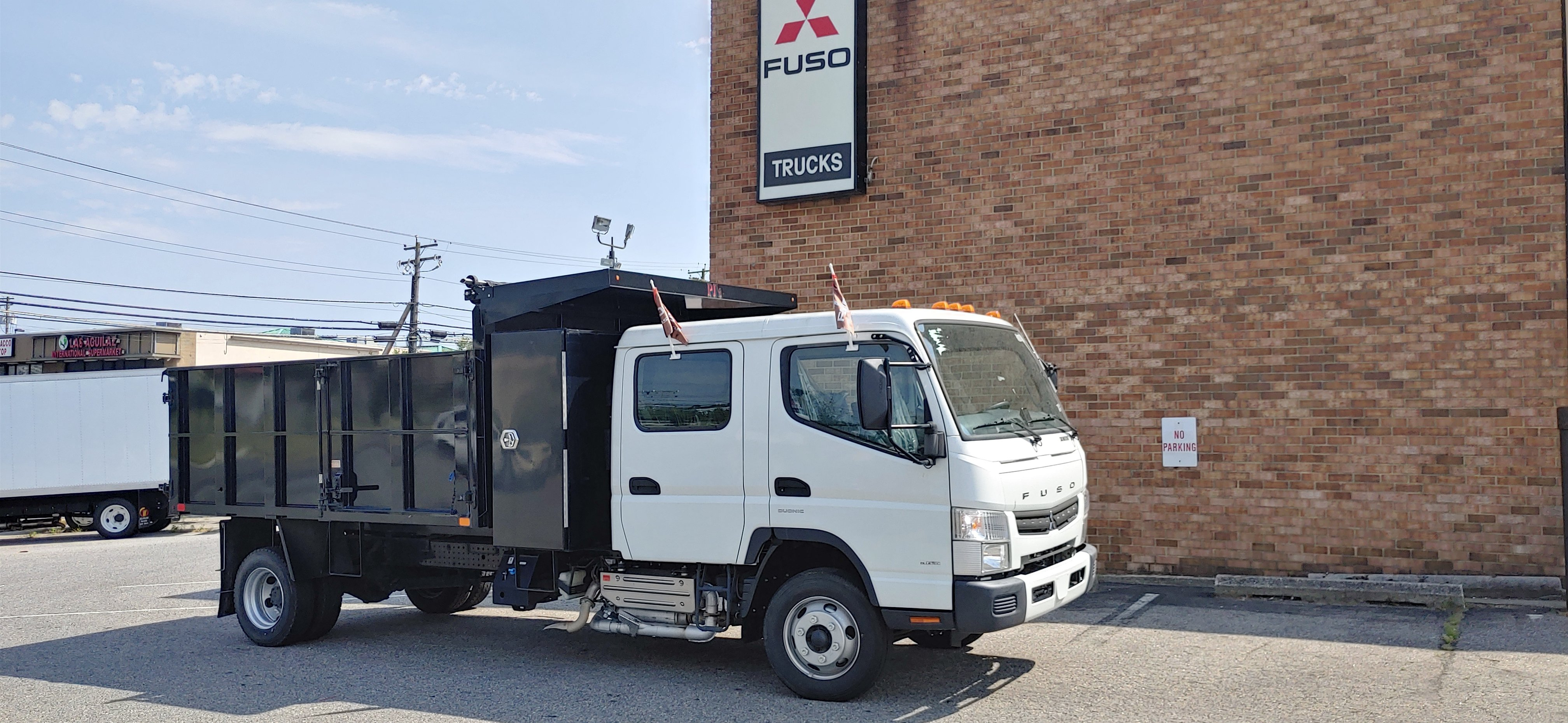 New 2017 Mitsubishi FE160 with Dump Body Crew Cab Recently Discounted 20200604_154521_HDR-e1591303242668-762x456